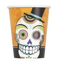 8 Day Of The Dead 'Beware' Paper Party Cups